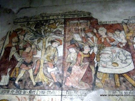 Pinturas Iglesia Unha, Romanico Aran