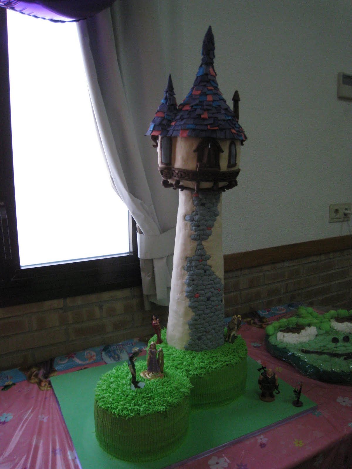 Tangled Rapunzel Tower Cake