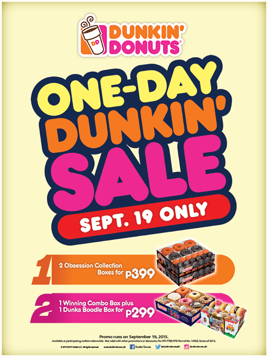one-day Dunkin' sale