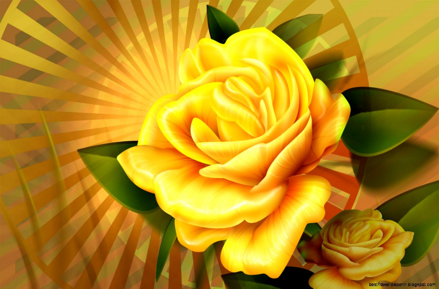 View Original Size Yellow Flower Wallpaper