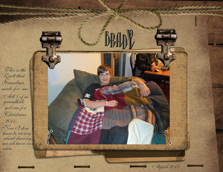 BRADY WITH HIS QUILT