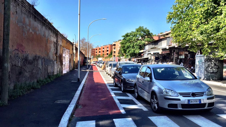 Roma fa schifo miracolo una pista ciclabile quasi - Porta portese lavori ...