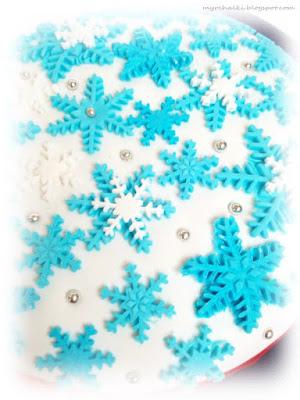 снежинки из мастики