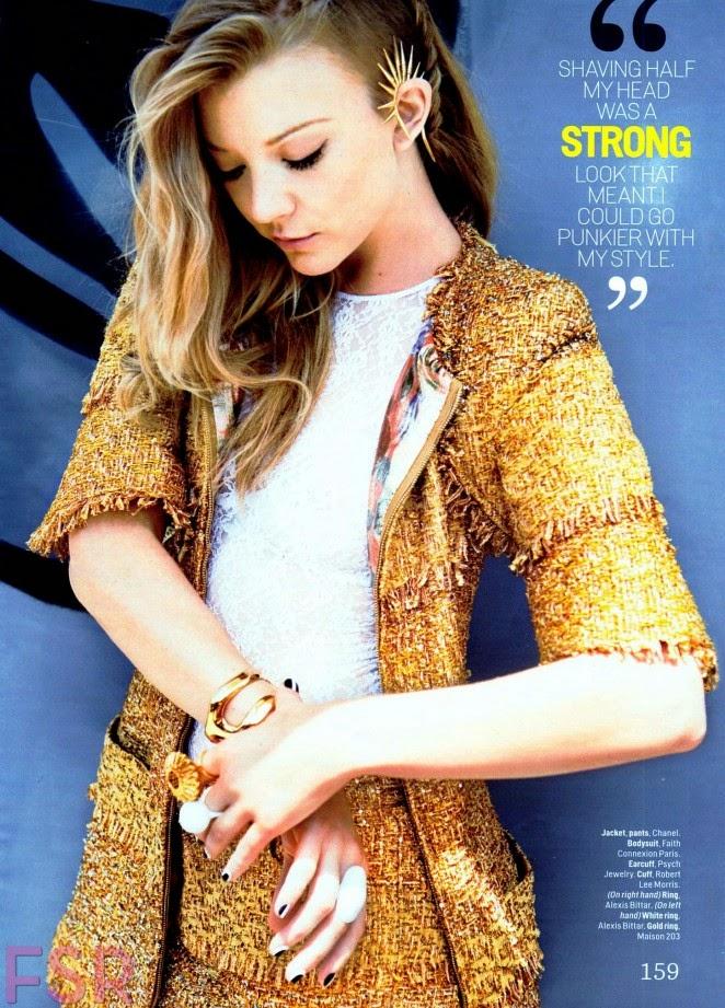 Natalie Dormer goes glamorous for Cosmopolitan's December 2014 issue