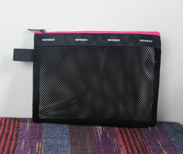 Memebox branded mesh pouch