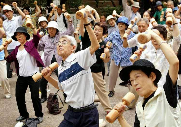 Japan old folks - ranked 2nd