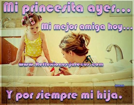 Frases de familia, princesita, hija, amiga