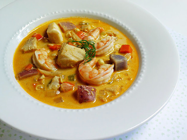 Cooking weekends cod shrimp fennel chowder for Fish soup cod