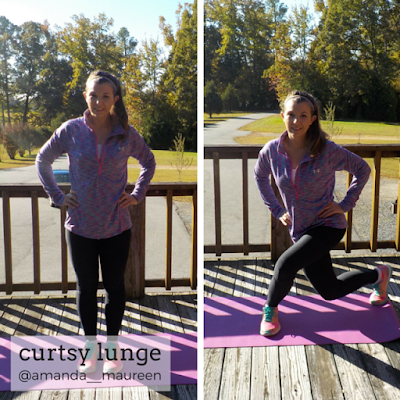 Workout Wednesday, Leg Workout, HIIT, Curtsy Lunge