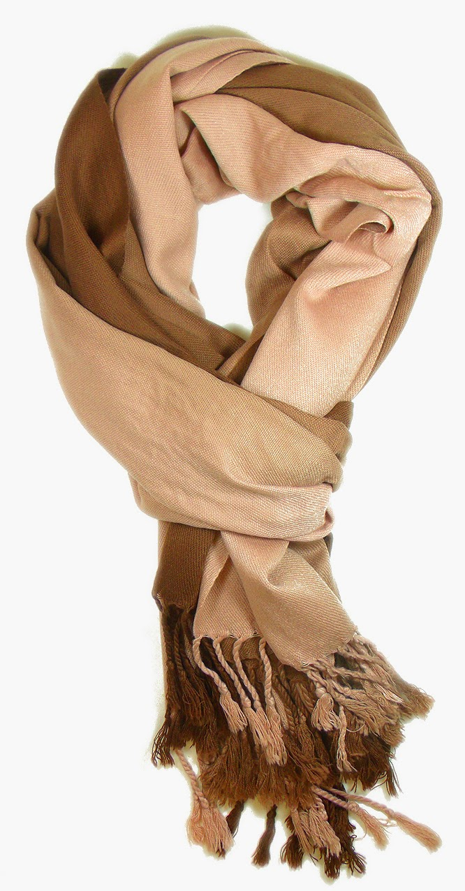 lenço de viscose marrom