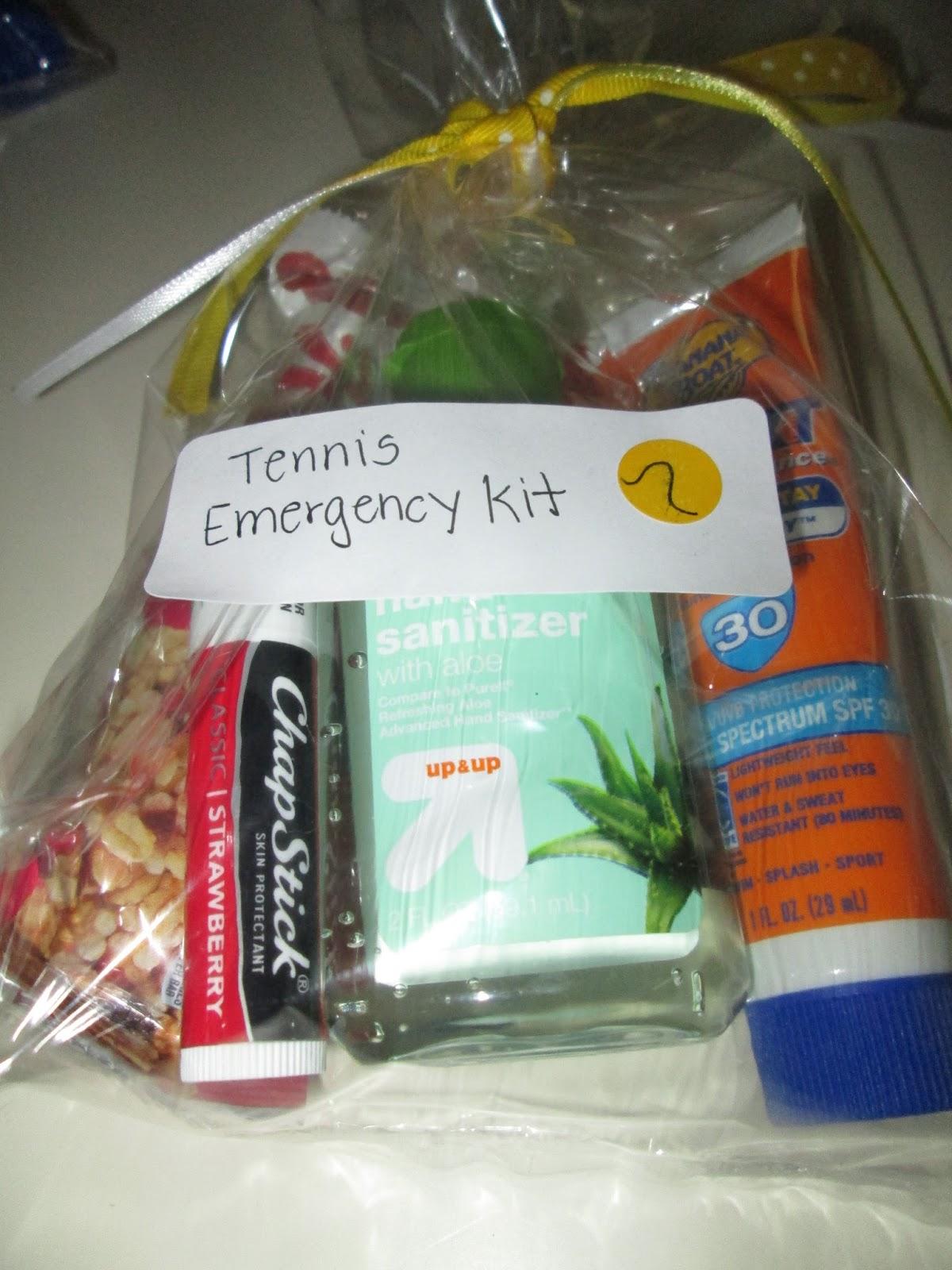 Roommom27 Tennis Team Emergency Kits
