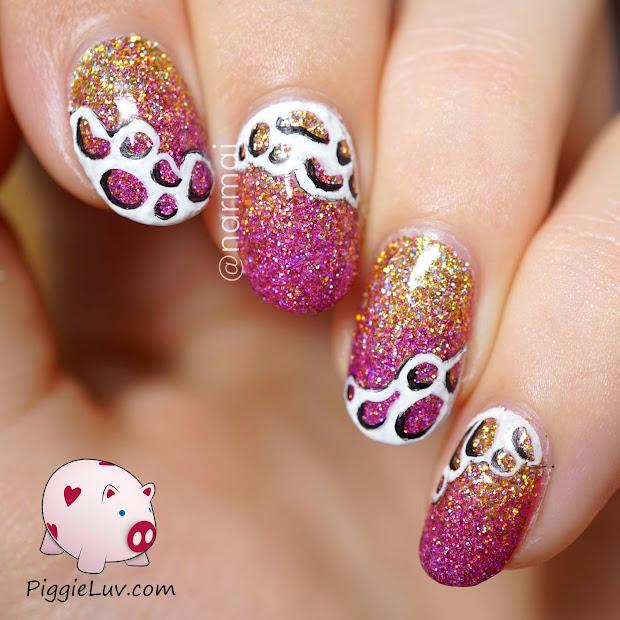 piggieluv glitter gradient nail