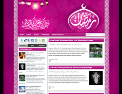7 Colorful Islamic Blogspot Template