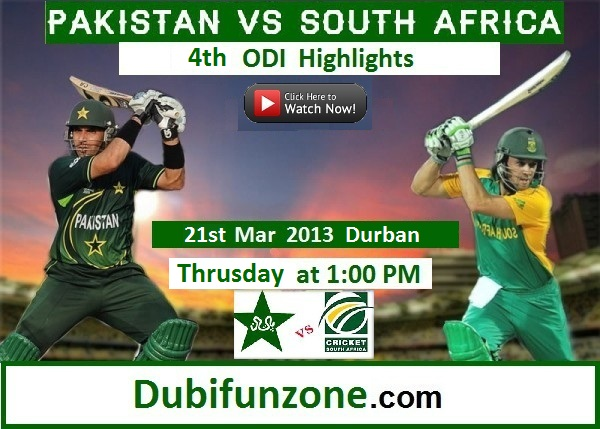 Pakistan-vs-South-Africa-4th-ODI-Highlights 21 Mar 2013 - Dubi Funzone