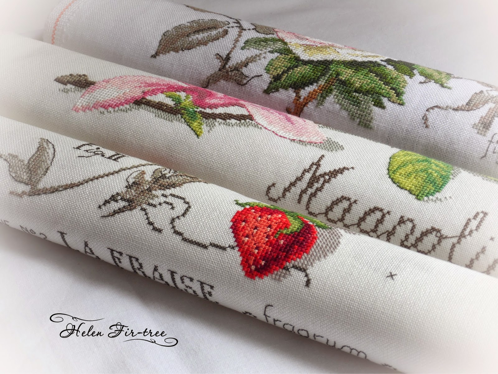 Helen Fir-tree вышивка крестом розы V. Enginger stitch roses  V. Enginger