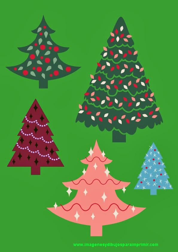 Arboles de navidad para recortar - Arboles de navidad diferentes ...