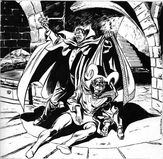 Dibujo del Doctor Extraño-Drácula por Gene Colan