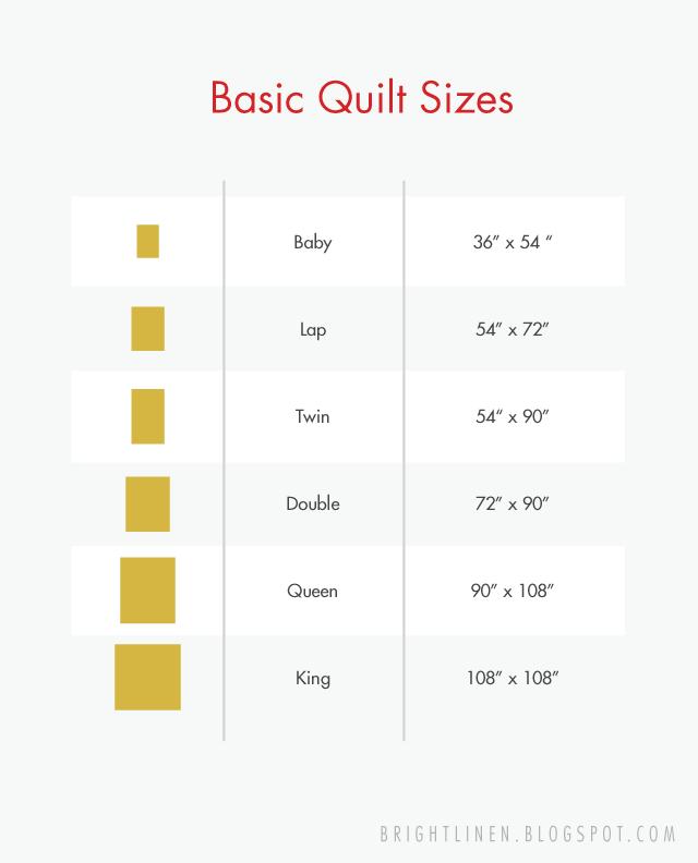Bright Linen Basic Quilt Sizes