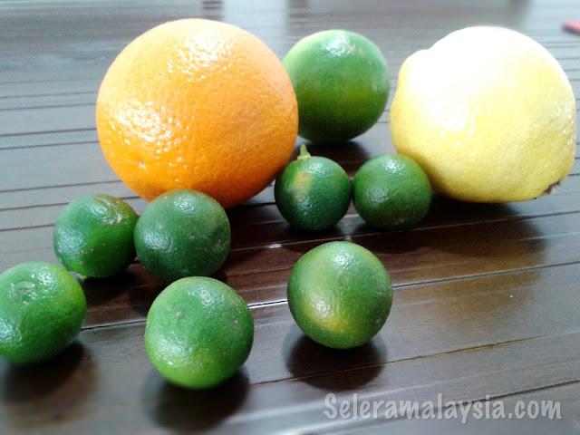 Orange, Key Lime and Calamansi