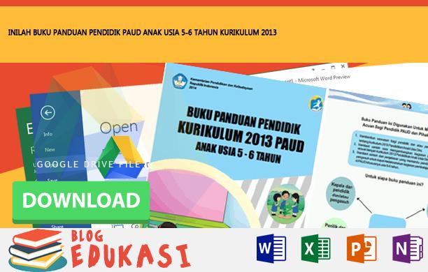 BUKU PANDUAN PENDIDIK PAUD ANAK USIA 5-6 TAHUN KURIKULUM 2013