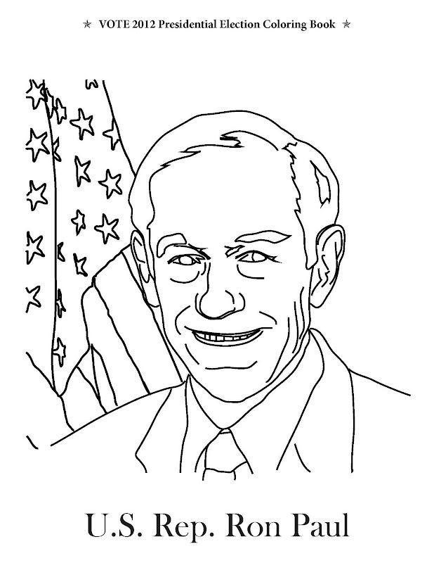 Ron Paul of Texas, from Vote 2012 Presidential Election Coloring Book title=