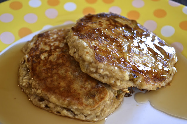 "Point-less"" Meals: Oatmeal Raisin Pancakes"