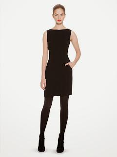 kolsuz siyah gece elbisesi