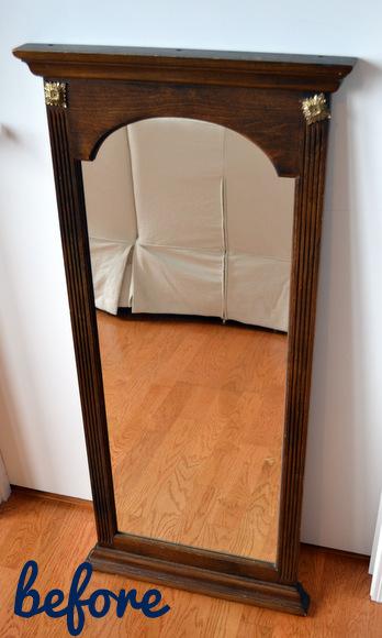 Wooden Mirror Before