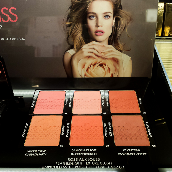 Guerlain Rose Aux Joues Blush - Swatches - Bloom of Rose Fall 2015 Makeup Collection