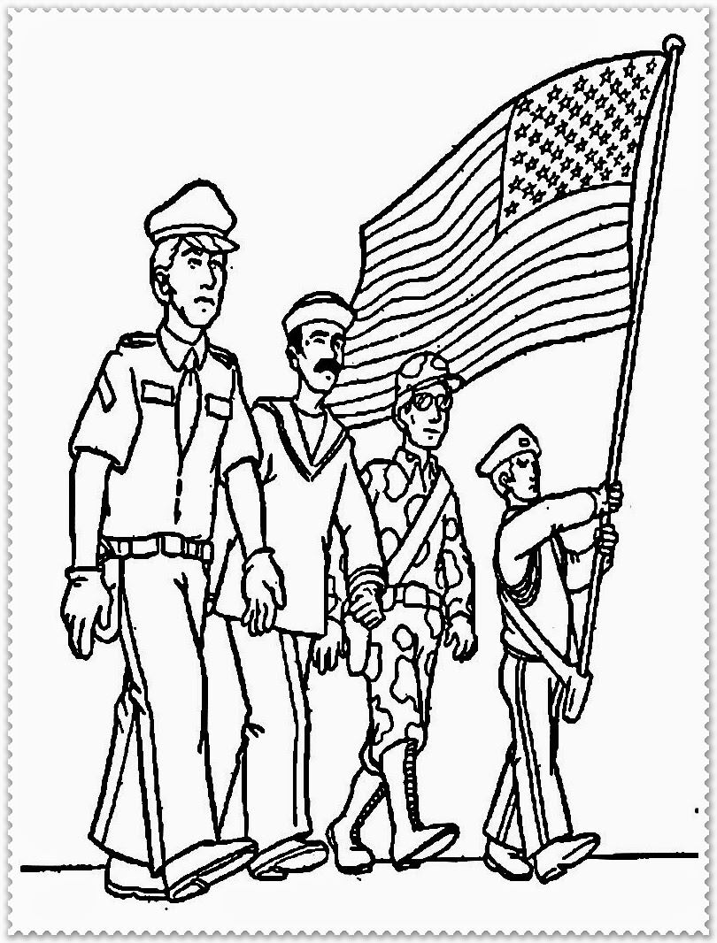 veterans day online coloring pages - photo#22