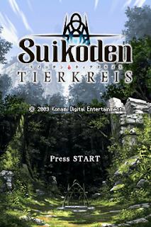 Suikoden Tierkreis title screen