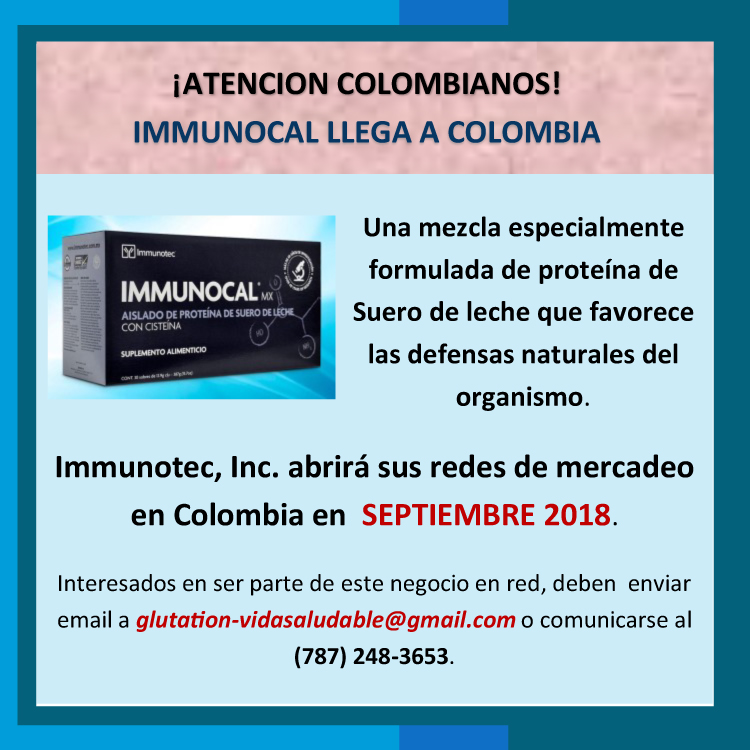 Immunocal llega a Colombia, entérate