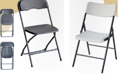 Mesas y sillas sillas plegables de polipropileno for Sillas plegables comodas