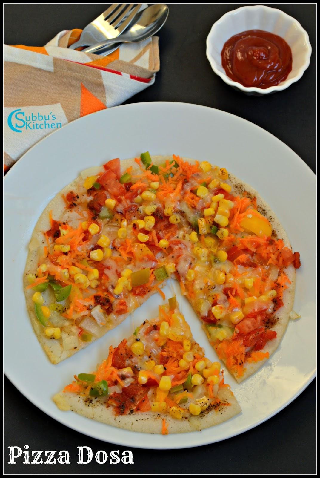 Pizza Dosai Recipe | Pizza Dosa Recipe