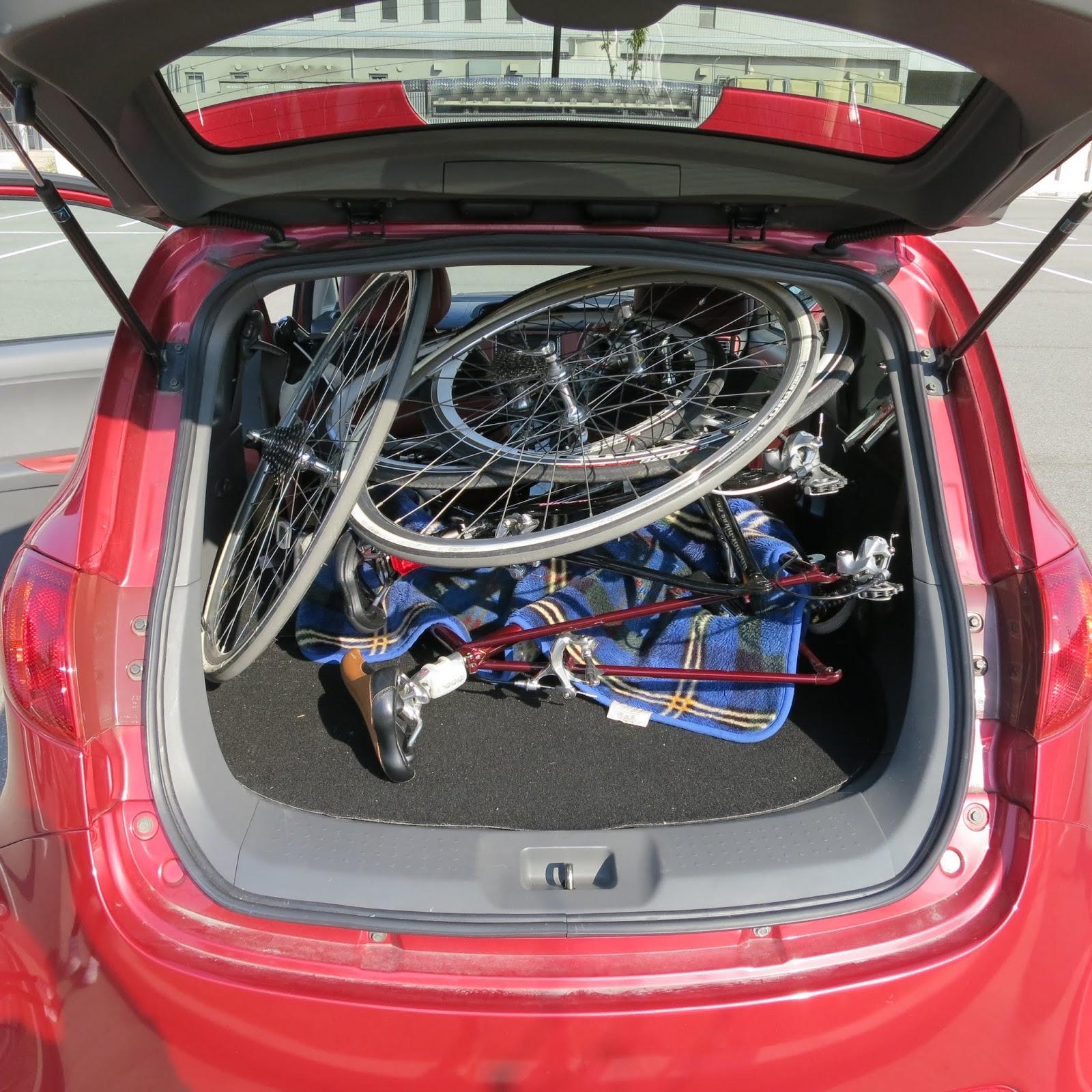 自転車の 小さい自転車 大人 : これに自転車2台と大人2人を ...