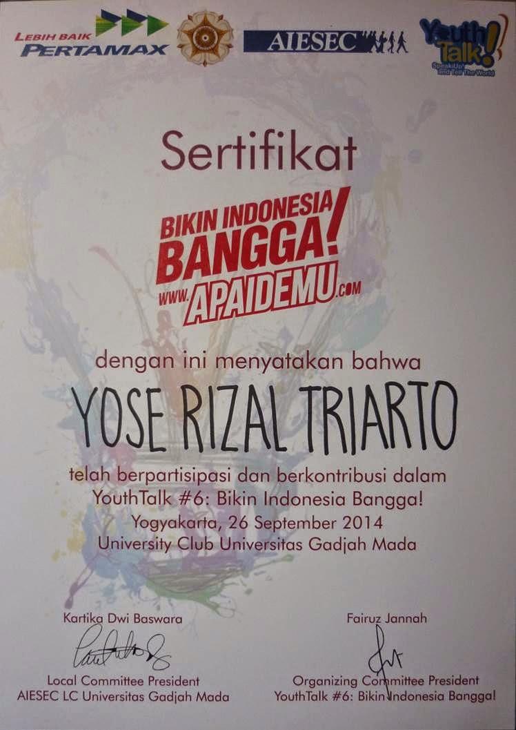 YouthTalk #6: Bikin Indonesia Bangga!