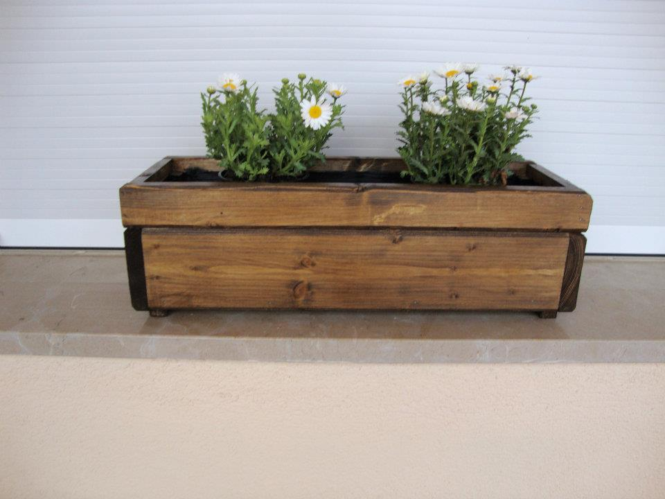 Mini jardineras - Jardineras de madera grandes ...