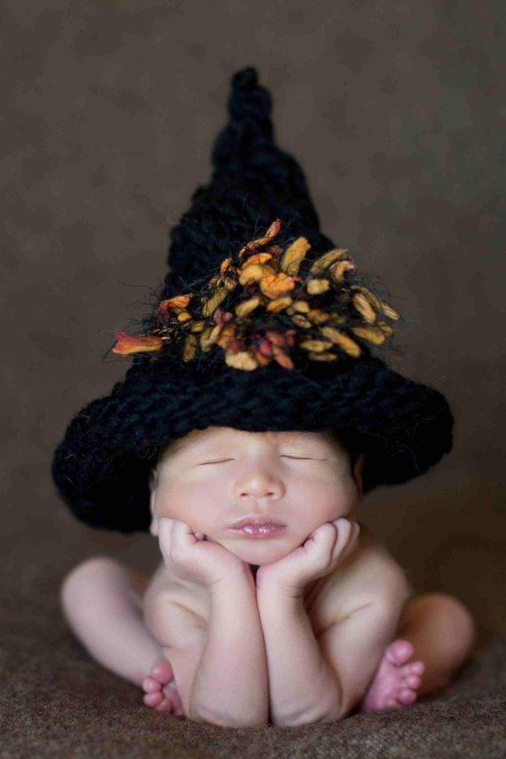 Newborn Crochet Witch Hat Pattern : This Knit Witch Hat Is a Real Treat Petals to Picots