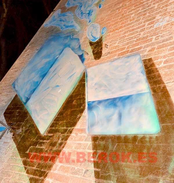 Trampantojo mural cubitos de hielo