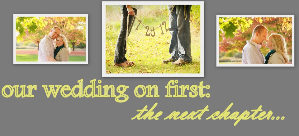our wedding on first: the next chapter