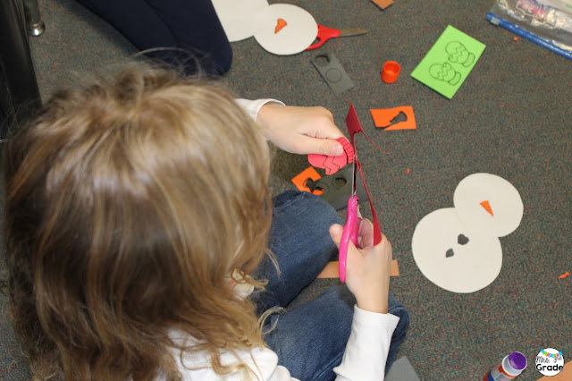 Having students create snowman is a great way to keep them engaged, and a fun way to talk about how God made each of us unique!