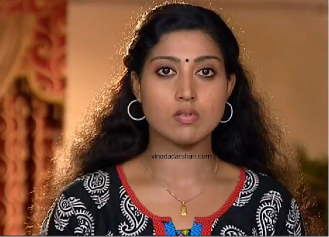 Actress Ashwini as Lekha IPS in Asianet Serial Amma