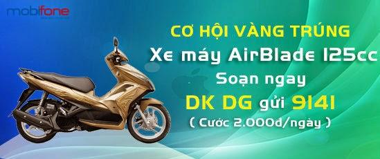 Đấu giá ngược trúng xe máy Air Blade 125cc