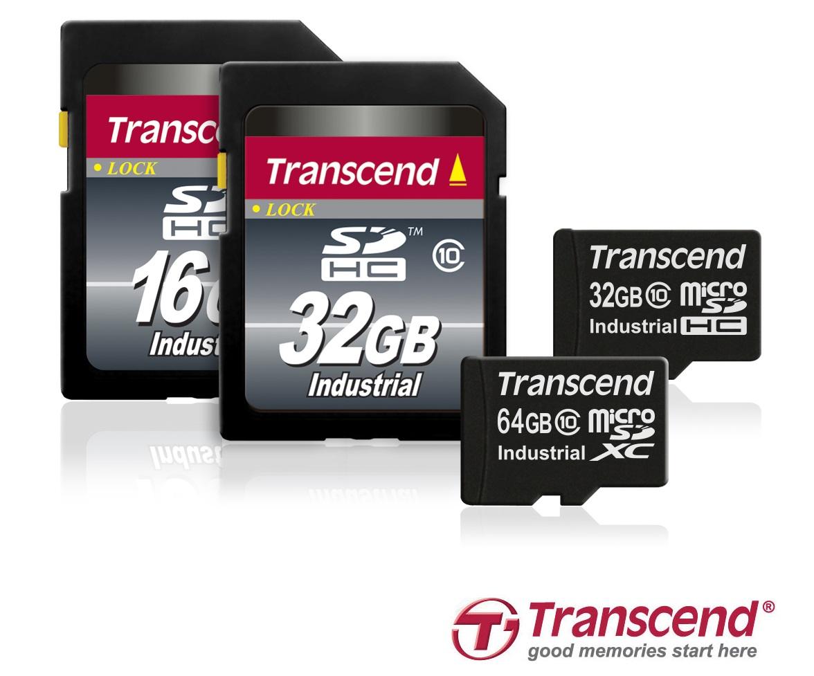 Transcend 64GB microSD memory cards