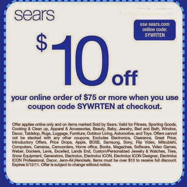 Sears discount coupons printable