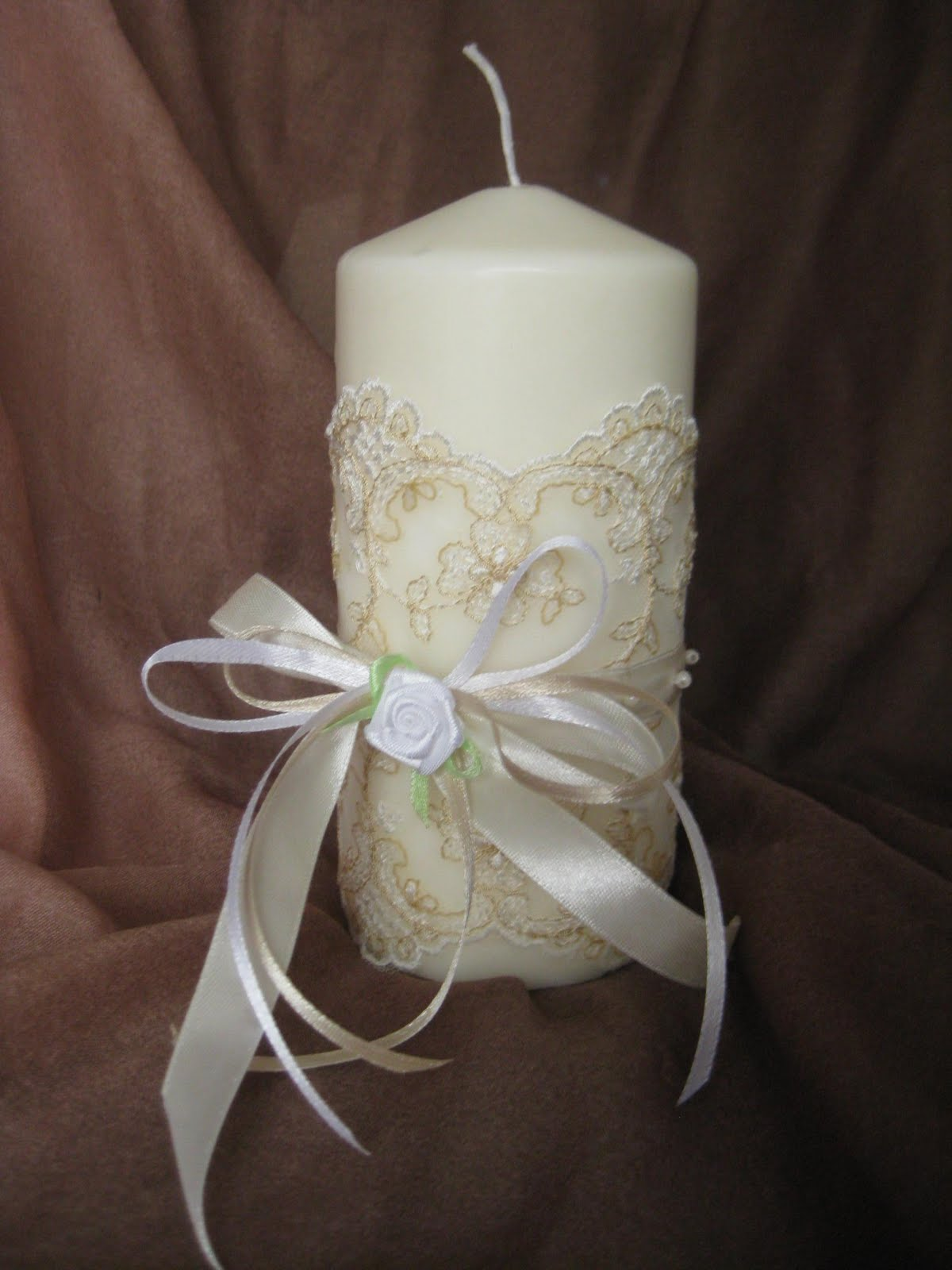 Украшение свечей на свадьбу своими руками: мастер-класс с фото 38