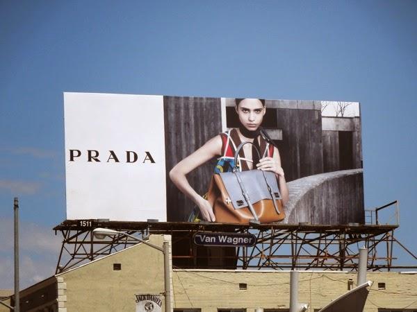 Prada FW 2014 handbag billboard