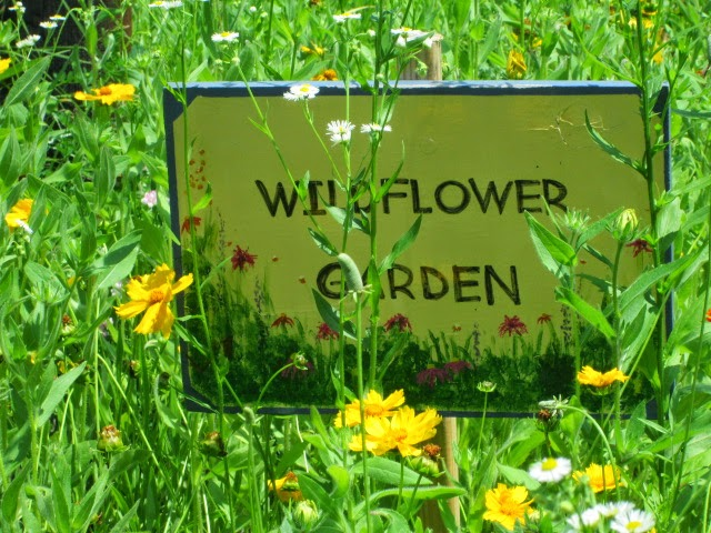 Wildflower garden sign