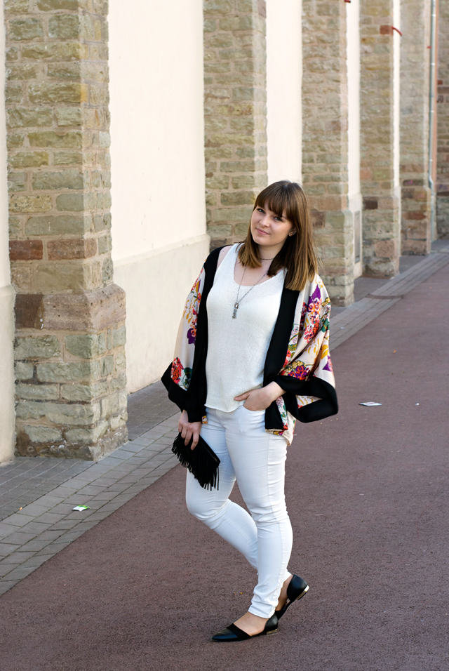 outfit kimono fringe summer look