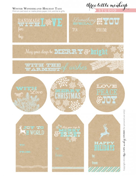 http://catchmyparty.com/blog/free-christmas-party-printables-from-three-little-monkeys-studio